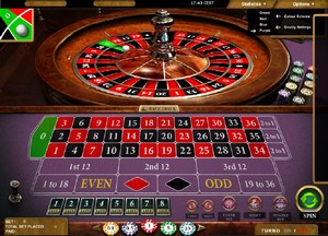 Playing the roulette game