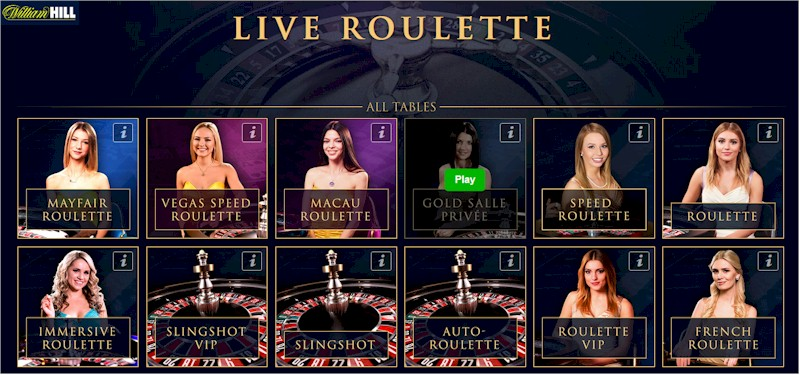 play roulette online at william hill live casino